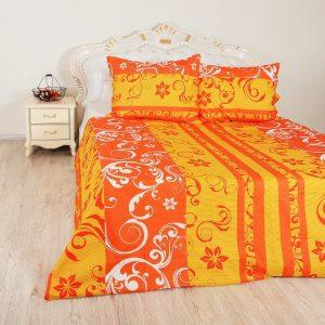 Přehoz bavlněný Emilien oranžový TiaHome