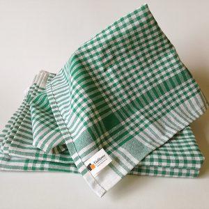 Kuchyňské bavlněné utěrky Zelené 50x70cm TiaHome
