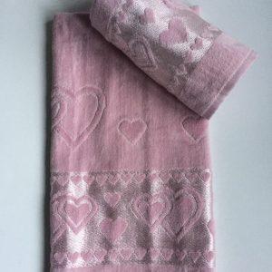 Žakárový froté ručník staro růžová TiaHome
