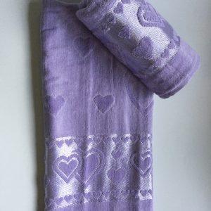 Žakárový froté ručník světlo fialový TiaHome
