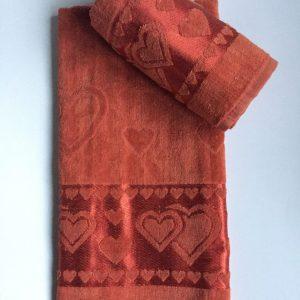 Žakárový froté ručník cihlová TiaHome